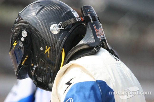 Hans attached to helmet pic